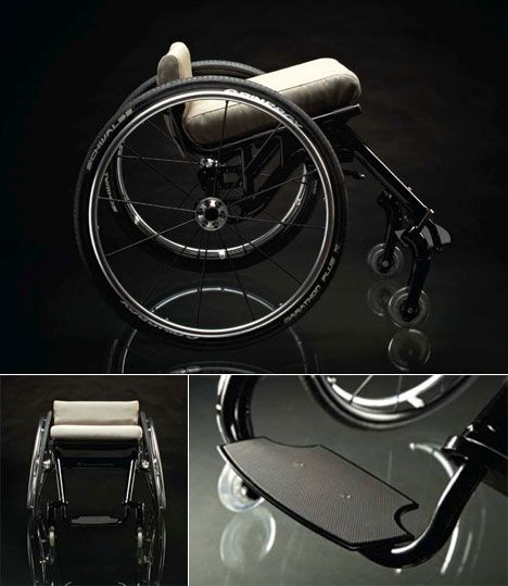 Nomad Wheelchair, a minimal and lightweight mobility device that has just won the First Time Design Project award from Design Management Europe