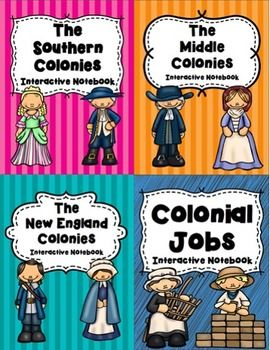 Hi! This bundle of interactive notebook activities includes templates and notes on the Southern, Middle, and New England Colonies and on Colonial Jobs.