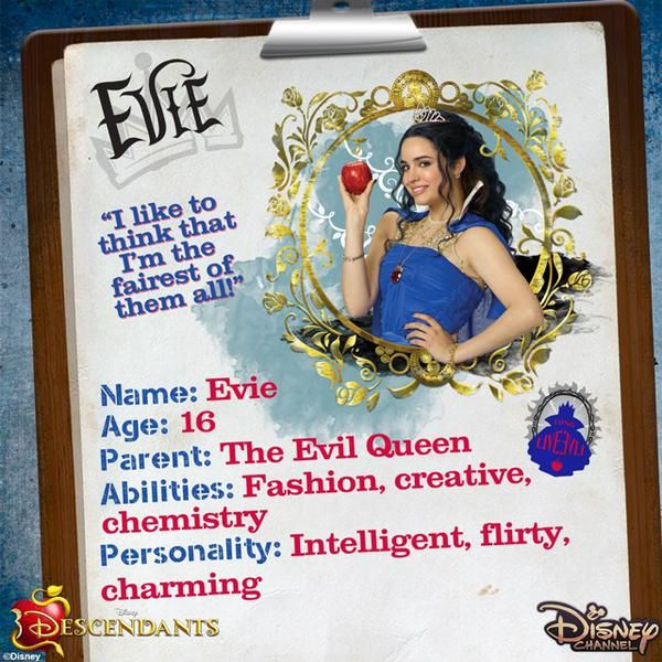 You're Evie! - You're a hopeless romantic with a flair for fashion! Underneath your chic updo or stylish hat is a head full of knowledge—you're very intelligent and when you believe in yourself, you can accomplish anything.