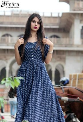 City Girl - Printed Maxi Dress from 'Amara by Sonia Harwani'. Shop at www.artistop.in