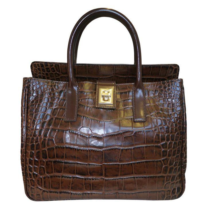 Arcadia Davina Printed Leather Tote Bag