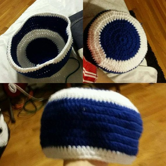 Blue and White Hat Great For the Holidays by BreesOneOfAKind