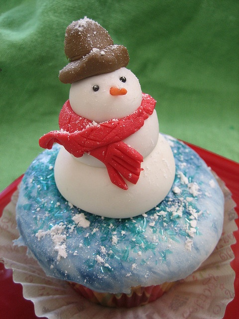 Hello Snowman cup cake