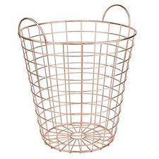Copper Rose Gold Waste Bin Storage Basket Modern Bin Scandi Living Scandinavian.