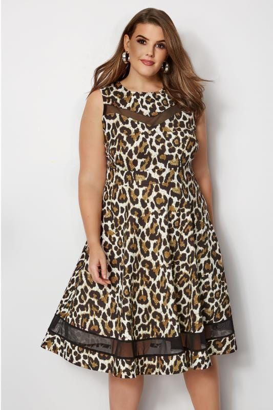 01781467b19 Leopard Print Scuba Skater Dress   - My Print Designs -   Skater ...