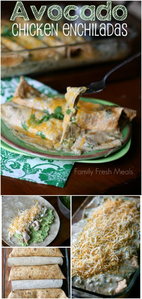 Avocado Chicken Enchiladas - Family Fresh Meals