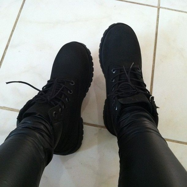Cute Outfits with  black Timberlands | timberland black timberlands cute swag boots great black timberland ...