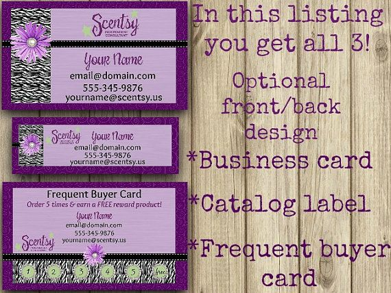 Business Card, Direct Sales Marketing, Independant Consultant, Catalog Label, Frequent Buyer