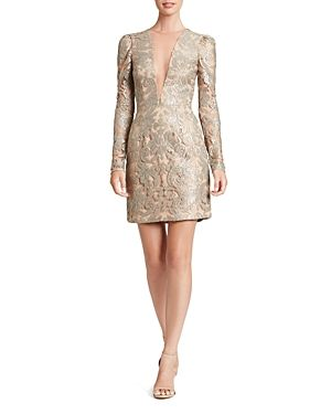 DRESS THE POPULATION DRESS THE POPULATION CLAUDIA ILLUSION-NECKLINE DRESS. #dressthepopulation #cloth #