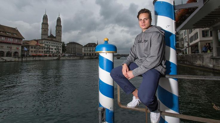 Top Draft prospect Auston Matthews in Switzerland (Credit: ZSC Lions)