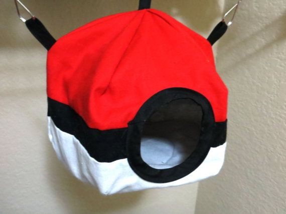 Hey, I found this really awesome Etsy listing at https://www.etsy.com/listing/255615581/pokeball-themed-rat-hammock