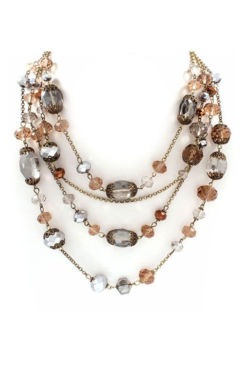Mia Necklace in Champagne on Emma Stine Limited