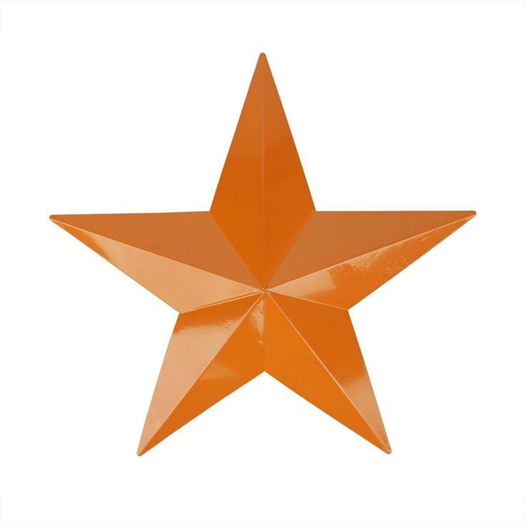 24 Burnt Orange Country Rustic Star Indoor/Outdoor Wall Decoration (Iron), Outdoor Décor