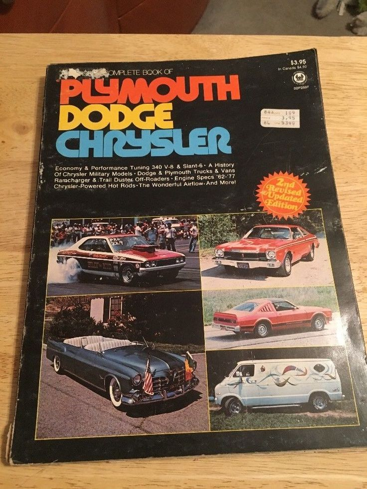 Vintage 1977 - PETERSONS Complete Book of PLYMOUTH, DODGE, CHRYSLER