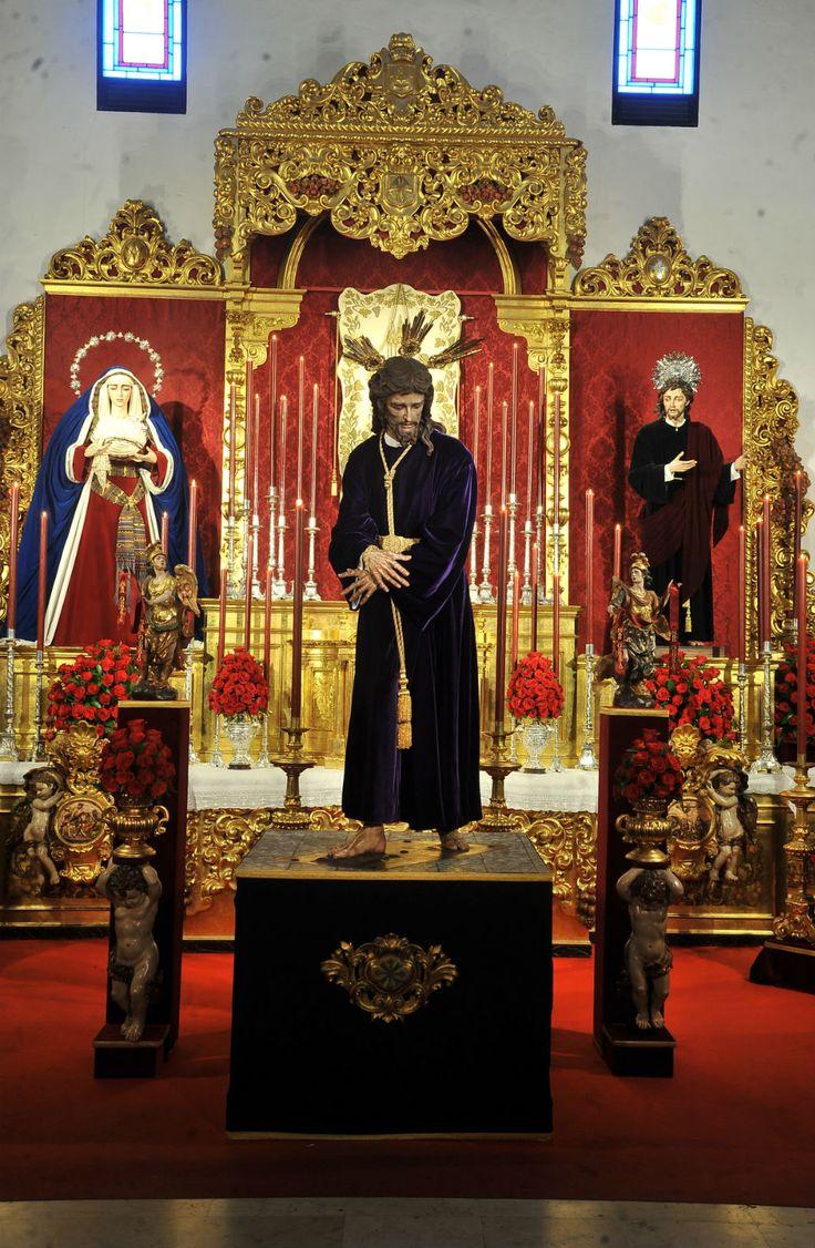 Nuestro Padre Jesús del Soberano Poder ante Caifás. Hermandad de San Gonzalo. Parroquia de San Gonzalo. Sevilla. Marzo de 2017