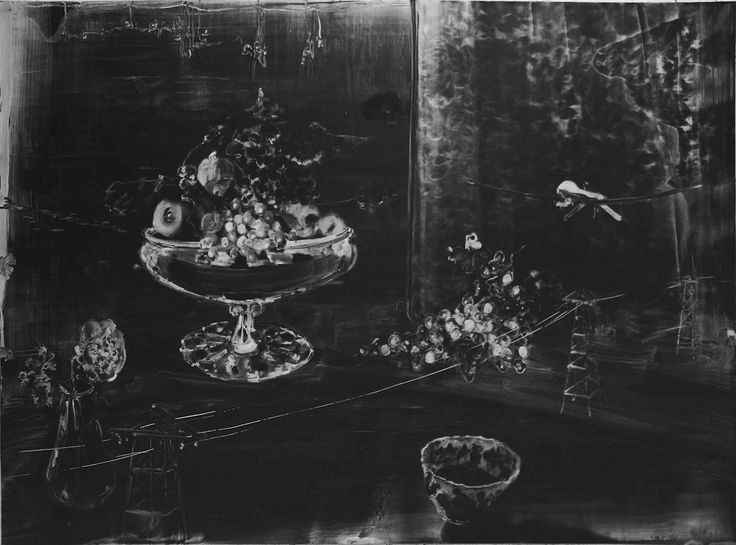 Christopher Cook (British, b. 1959), Reaper with Bowl of Ink, 2016. Graphite on paper, 71 × 98.5 cm.