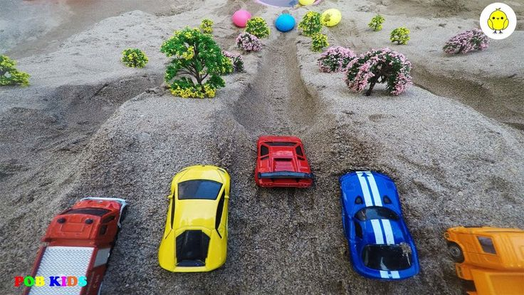 Learn colors with car and ball video for kids, truck toys video for chil...