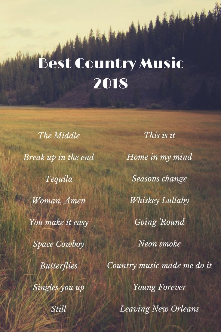 Top 18 Country Songs 2018 Country Music Pinterest Music Songs