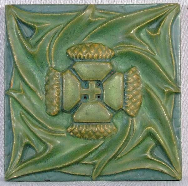 Rookwood Pottery Tile Arts and Crafts Thistle, c1910. Year our house was built, said a pinner. Ours too.