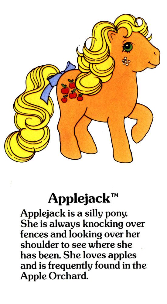 My Little Pony Applejack fact file ...