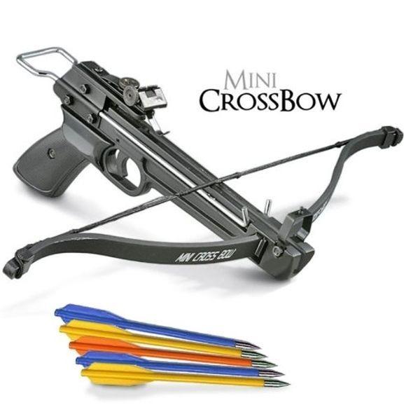 50 lb. Mini Crossbow Pistol Hand Held Gun Archery Hunting Cross Bow w/ 5 Arrows #Pistol