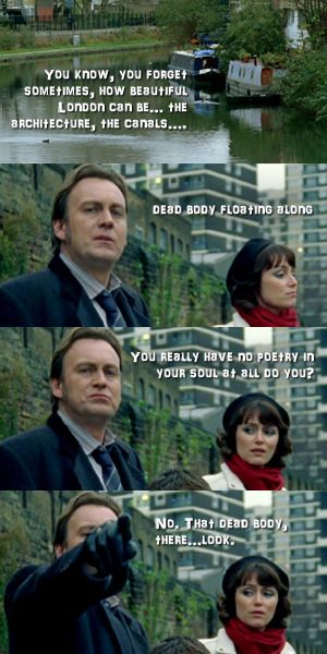 Gene Hunt and Alex Drake (Ashes to Ashes)