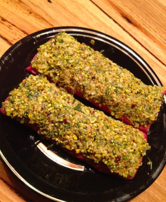 Pistachio crusted lamb backstrap