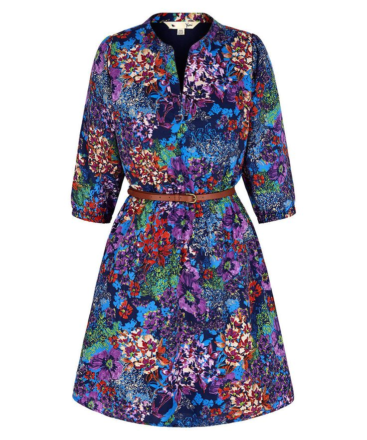 Give a nod to the orient with this chic multi-coloured floral print dress from Yumi. Boasting waist belt detail to accentuate your feminine figure and a grandad collar neckline, it's sure to inject a hit of colour into your AW15 favourites.Fabric: 100% polyesterColour: multiCare advice: machine wash 30