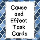 Cause and effect task cards!  This file contains 20 cause and effect task cards.  Students must read a short paragraph, and then determine the cause...