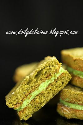 Green tea Dacquoise | yummy | Pinterest