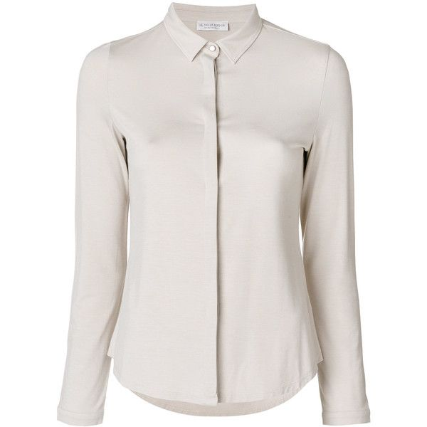 Now 30% off, $297 - Shop this and similar Le Tricot Perugia tops - Beige plain shirt from Le Tricot Perugia. Gender: Female. Age Group: Adult. Material: Viscose...