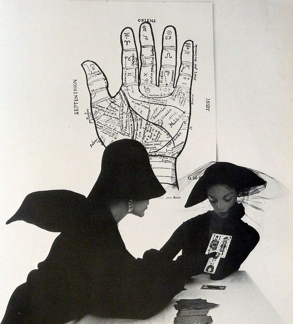 The Tarot Reader (Jean Patchett & Bridget Tichenor), New York, 1949 by Irving Penn