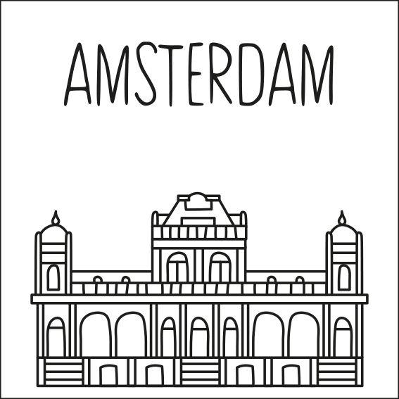 Haal een beetje van Amsterdam in huis met deze leuke 'straat' #raamtekening met een paar van de bekende gebouwen: VondelCS, A'DAM toren, Haarlemmerpoort, Riekermolen, Rijksmuseum, Silodam, trapgevel huis en Gondelkerk.
