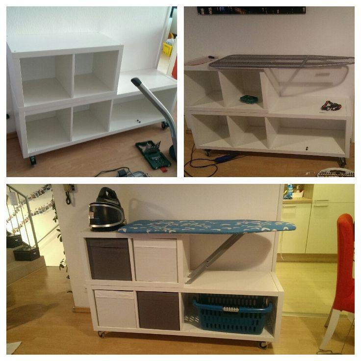 Mein DIY mobiler Bügeltisch  #bügeln #diy #bügelbrett #bügeltisch #bügelnkannauchspaßmachen #kallax #sopraktisch #ikea #ikeahack #teamwork