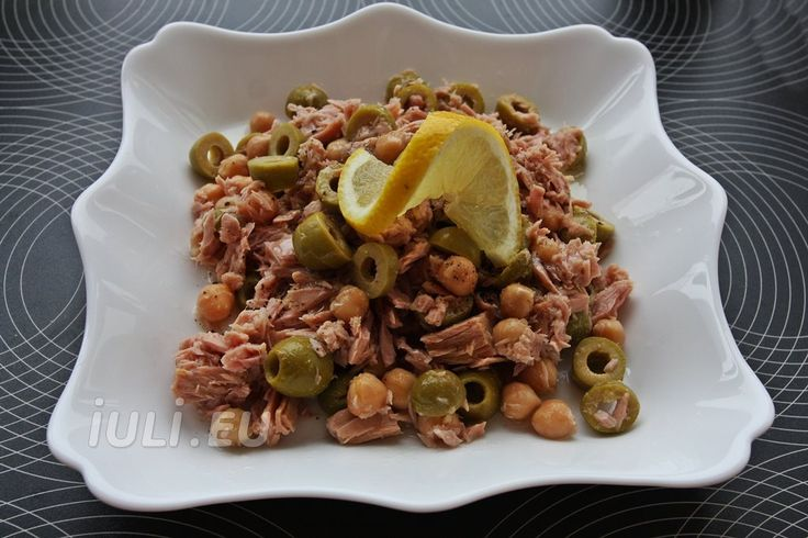 Salata de ton cu naut si masline