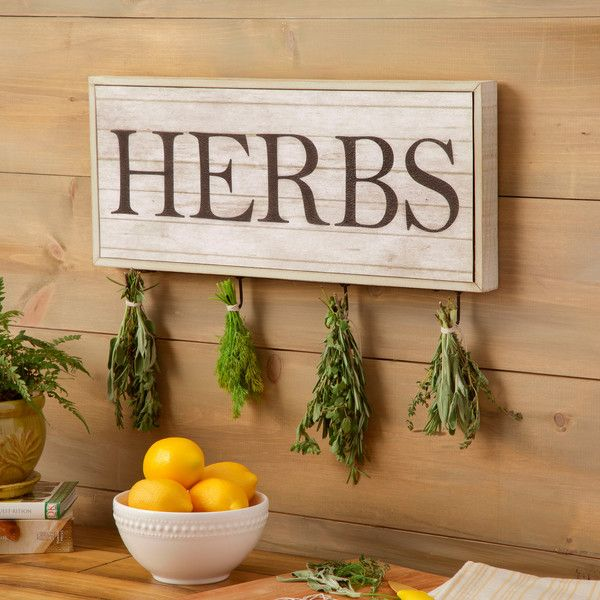 Birch Lane Woodbury Herbs Print, Drying Rack