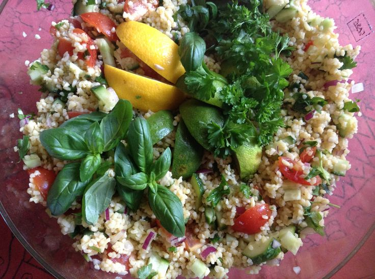 Taboulleh with lots of fresh herbs