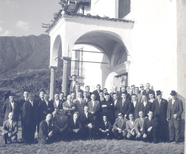 Aprile 1961: convegno Gruppo Uomini di Azione Cattolica - http://www.gussagonews.it/fotografia-convegno-gruppo-uomini-azione-cattolica-1961/
