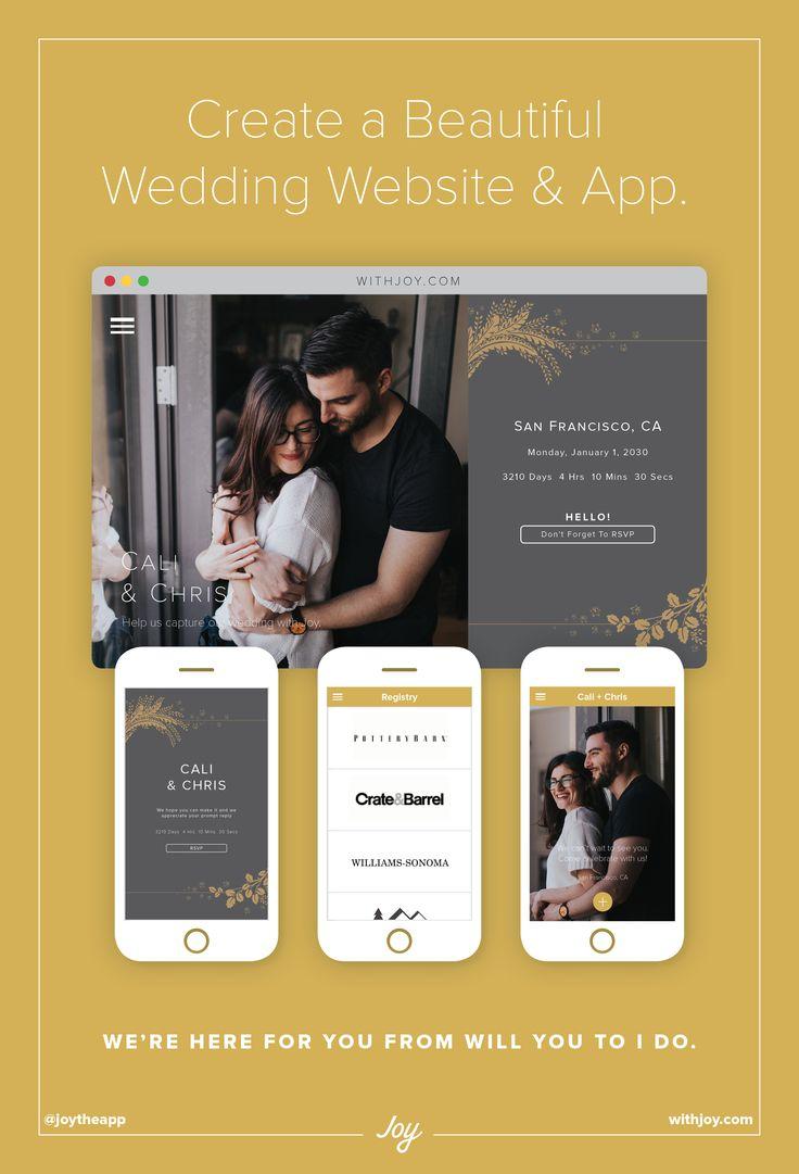 34 best Joy Wedding Website Themes images on Pinterest | Bridal ...