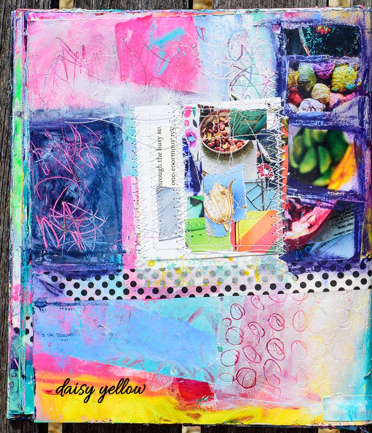 Art journal: Daisy Yellow Equivalent of Almost by Tammy Garcia daisyyellowart.com
