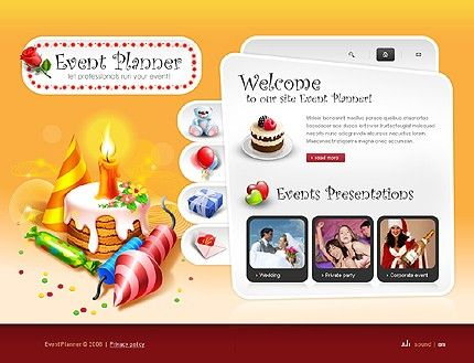 Event Planner Flash Templates by Delta