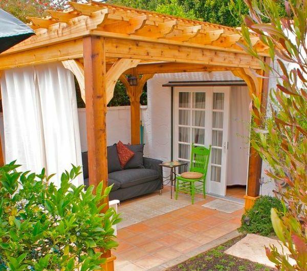 17 meilleures id es propos de rideaux de pergola sur pinterest rideaux en - Pergola contemporaine bois ...