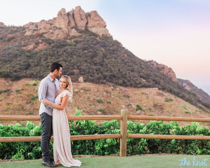 This is what dreams are made of. Bachelor Ben Higgins and his fiancee, Lauren Bushnell, took their engagement photos at a famed vineyard in Malibu, California, where celebrity weddings are frequently situated.