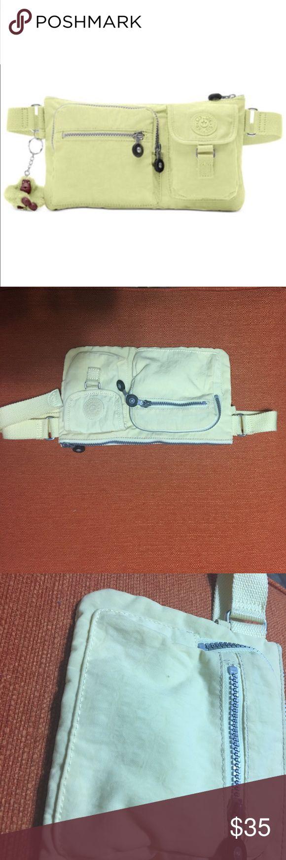 ⭐️ 30% OFF BUNDLES ⭐️ Kipling brand fanny pack bright yellow, no monkey key chain. Normal wear. Adjustable strap Kipling Bags Mini Bags