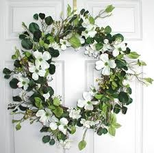 Simple and beautiful - just as a dogwood wreath should be~