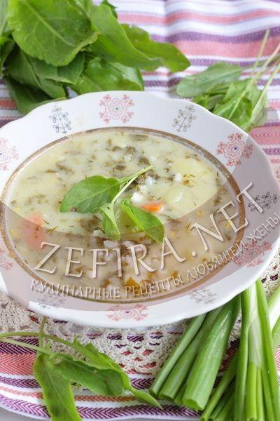 Зеленый борщ со щавелем и говядиной — Кулинарные рецепты любящей жены