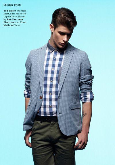 Henry Watkins & Garrison Van Curen for Style Mode. Blazer and stripes <3