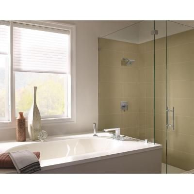 Delta Ara 2-Handle Deck-Mount Roman Tub Faucet with Hand Shower Trim Kit Only in Chrome (Valve Not Included) - T4767 - The Home Depot