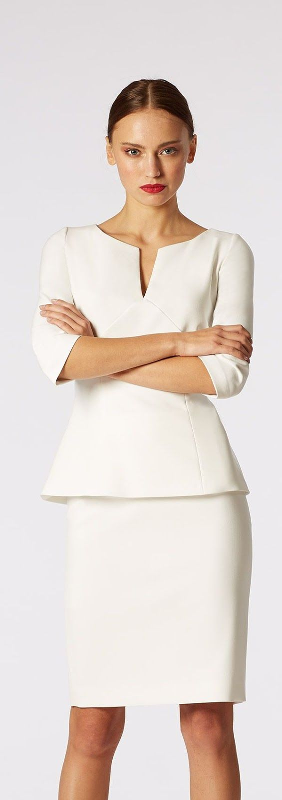 Latest fashion trends: Workwear | Chic white outfit