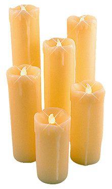 Arti Casa LED Kaarsen set 6 st  Deze kaarsen zijn vervaardigd van echte was met druipeffect. Lengte van de kaarsen: ca. 10 / 12,5 / 15 / 17,5 / 20 / 22,5cm, diameter 5cm. De kaarsen zijn voorzien van batterij en Aan/Uit-knop. http://www.syada.nl/Arti-Casa-LED-Kaarsen-(set-6-st)